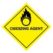 Hazard safety sign - Oxidizing Agent 054